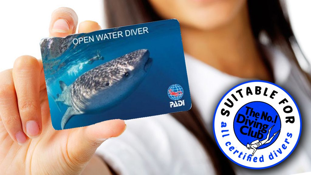 Suitable for certified divers